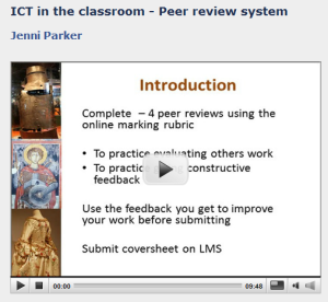 Peer-review video image